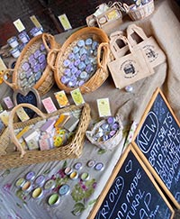 Soaps and candles stall